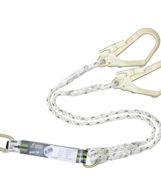 Forked energy absorbing twisted rope lanyard 1.50 mtr
