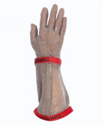 دستکش ضد برش فلزی ساق بلند SCHLACHTHAUSFREUND مدل MG2212